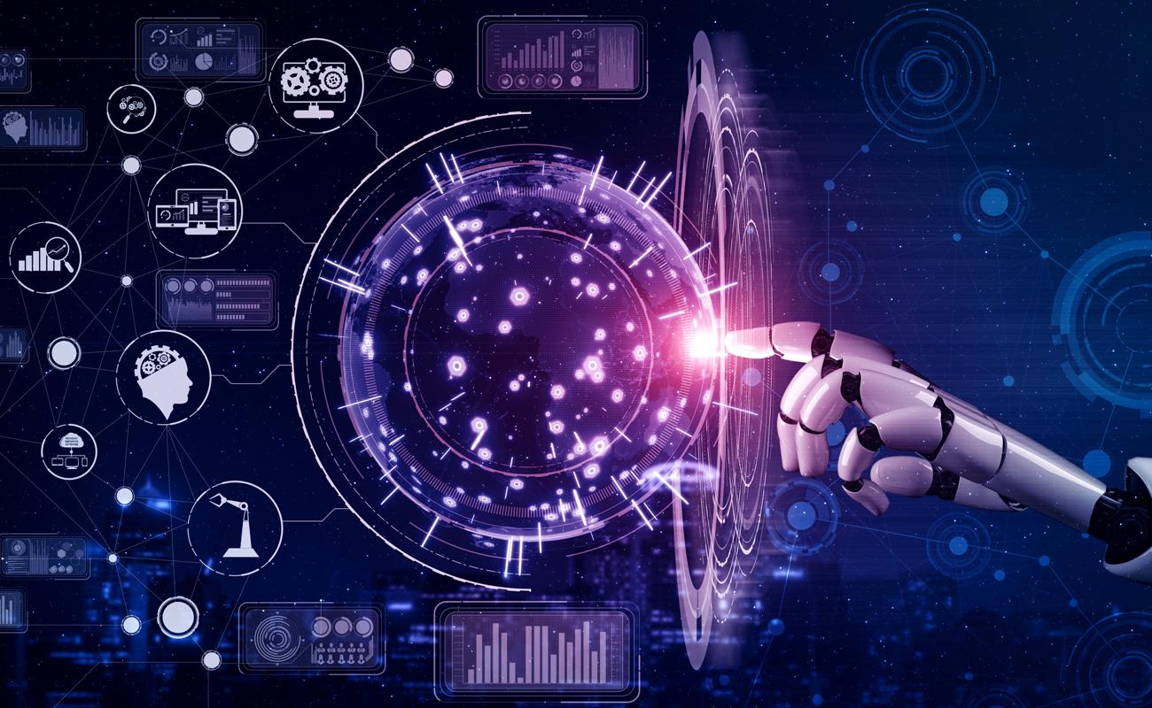 Image futuriste indiquant la relation entre big data et intelligence artificielle